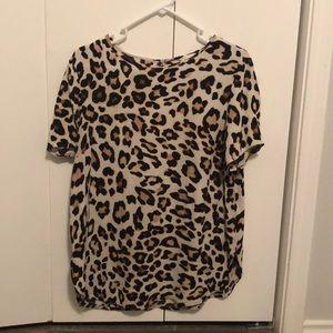 H&M animal print top Size 12